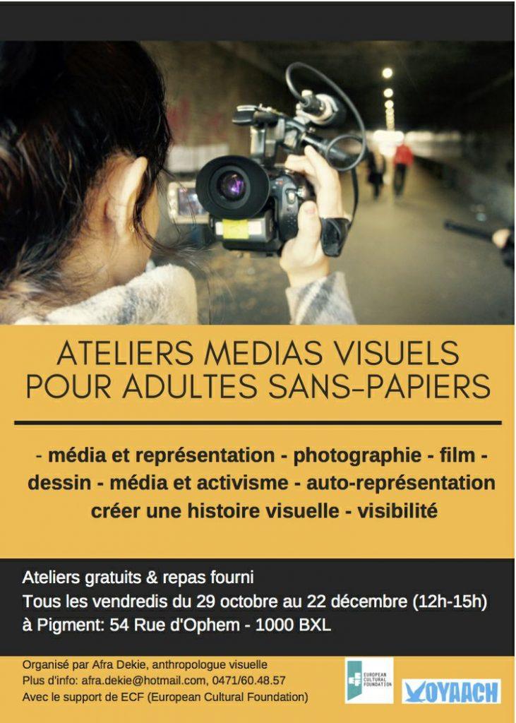 Atelier Medias Visuels pour adultes sans-papiers