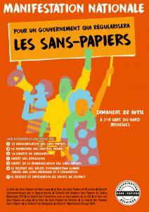 MANIF: Pour un Gouvernement qui Régularisera les Sans Papiers @ Départ de Gare du Nord de Bruxelles